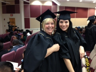 Faith Schafer-Moody and her daughter, Lindsay DeGraw, Masters of Health Care Informatics, Class of 2013