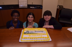 Our Scoop Team, from left to right: Natasha, Shalu, and Kerry