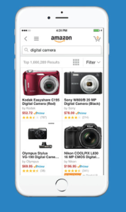 Amazon's app for iOS and Android