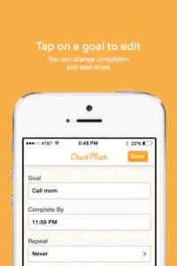 CheckMark Goals App