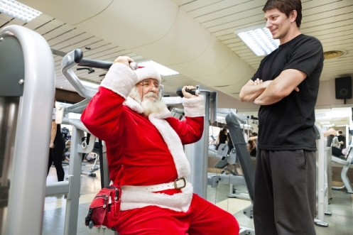 santa-working-out