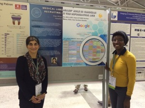 Shalu and Natasha presenting their poster