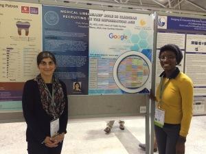 Shalu and Natasha presenting their poster