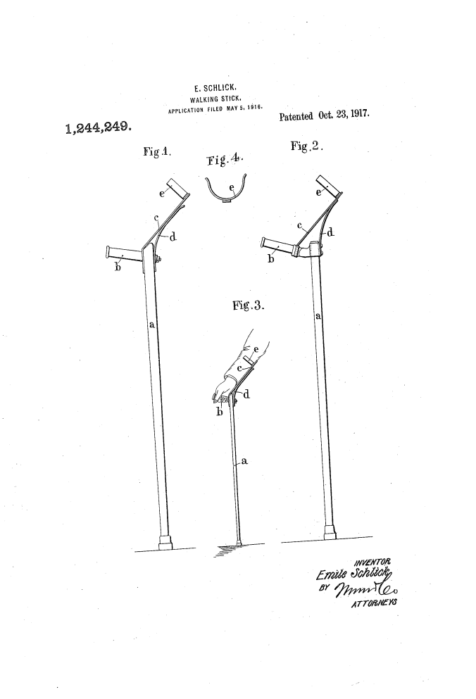Emile Schlick's original design. Image courtesy of http://www.google.com/patents/US1244249