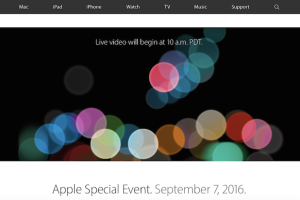 Apple event 2016
