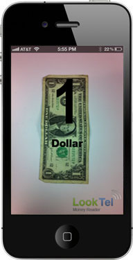 Looktel Money Reader app